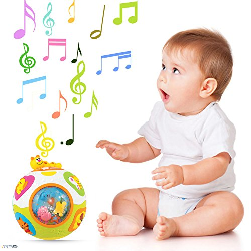 Memtes Move and Crawl Learning Baby Ball Toy with Lights, Music and Sounds