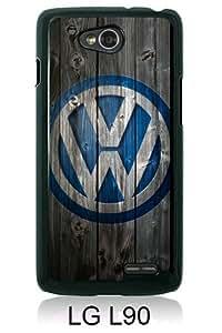 Newest LG L90 Case ,Volkswagen logo Black LG L90 Screen Phone Case Popular Fashion And Durable Designed