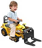 Ride on Digger with Fork Scoop Lift Loader Kids Toy Bulldozer
