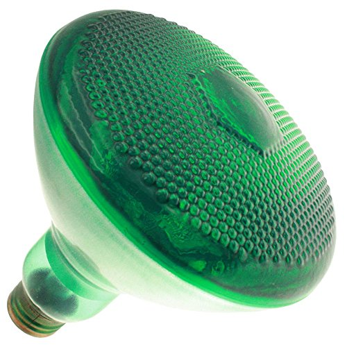 Industrial Performance 100BR38/G 130V, 100 Watt, BR38, Medium Screw (E26) Base Transparent Green Light Bulb (1 Bulb)