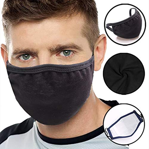 Anti-dust Black Mouth Mask Unisex Cotton Face Mask Anime Mask for Cycling Camp,Respirator Outdoor Trip Protection Mouth Mask, Respirator Face Mouth Masks