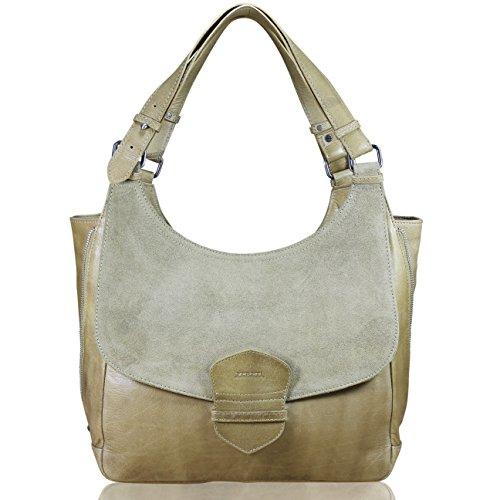 Marron Hombro Piel Cartera Large Claro Bolso Fereti Cuero Women Handbags Italia Leather Mujer Bolsa De Hecho 8wxIwBqFY