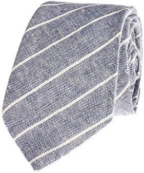 Salamii - Corbata de Lino para Hombre, diseño de Rayas, para Bodas ...