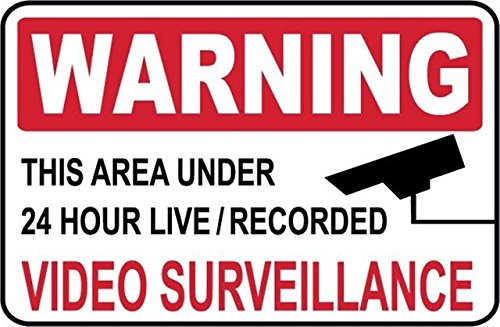 1 - Warning - Video Surveillance Signs + 4 Decals - #PS-513/14.Large. from Great American Signs