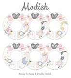 Modish Labels Baby Nursery Closet Dividers, Closet Organizers, Nursery Decor, Baby Girl, Pink, Gray, Grey, Gold, Floral, Unicorn