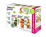 Sprout Organic Baby Food Pouches, Stage 2 Sprout Organic Baby Food Variety Pack, Carrot Apple Mango, Blueberry Banana Oatmeal, Pear Kiwi Peas Spinach  (Pack of 12)