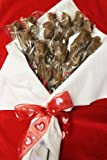 Chocolate Long Stem Rose Bouquet - 1 Dozen, for Valentine's Day, Mother's Day, Milk Chocolate