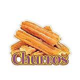 Churros Concession Restaurant Food Truck Die-Cut Vinyl Sticker 10 inches