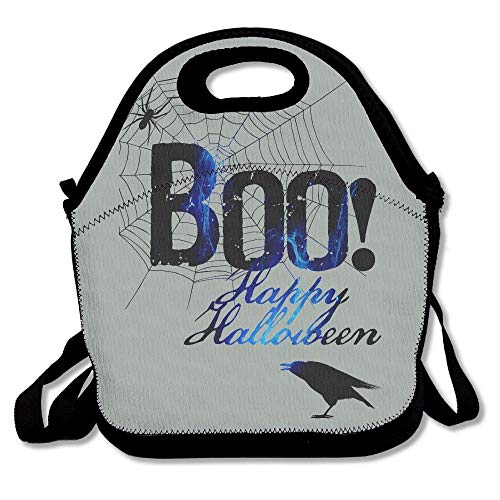 (Boo Happy Halloween Free Printable Lunch Bag Picnic Lunch Tote Bag Insulated Waterproof For Women, Adults, Kids, And)