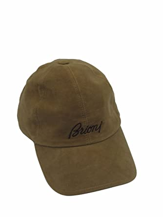 ffabcccfc2a Brioni Men s Baseball Cap Hat (Brown Felt) at Amazon Men s Clothing ...