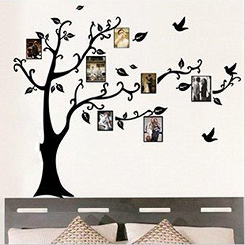 1pcs adesivi murali nero albero di foto cornice vite parete dcorazione rimovibile diy casa hotel ristorante cucina camera da letto amazonit fai da te