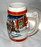 """20TH ANNIVERSARY EDITION 1999 BUDWEISER HOLIDAY STEIN """"A CENTURY OF TRADITION"""""""