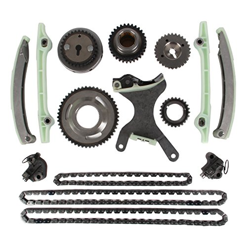 MOTORMAN Timing Chain Kit for 2002-2007 Dodge Dakota Durango 2005-2006 Grand Cherokee 2006-2007 Mitsubishi Raider 4.7L V8 Includes Replacement Chains, Gears, Guides, and Tensioners - 15 pc