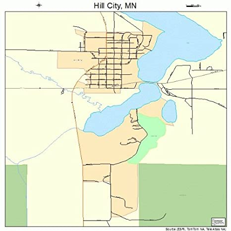 Amazon.com: Large Street & Road Map of Hill City, Minnesota ...