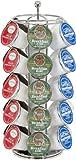 Trademark Innovations Premium Coffee Carousel - Elegant Chrome & Black Designs with Spinning Bases