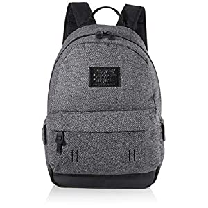 Superdry Woolly Montana Men's Backpack, Grey (Dark Grey Marl), 30x20x44 centimeters (W x H x L)
