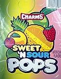 Candy, Charm Blow Pops,Sweet & Sour Flavor, 48 pops per box