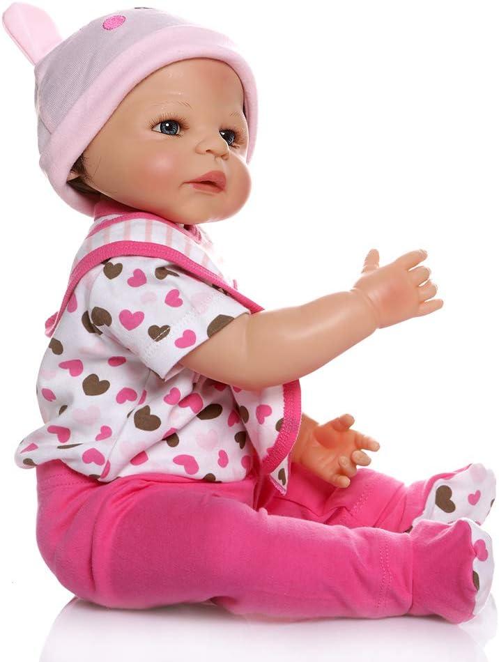 ZIYIUI Poup/ées 23 Pouces 58cm Corps Complet en Silicone Vinyle Reborn Baby Poup/ée Vivant Nouveau-n/é Poup/ée Looks Reallife Toddler Simulation Jouets