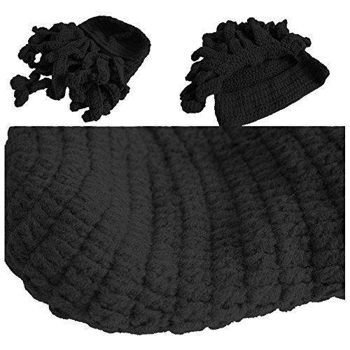 Pulpo Hat Sombrero Prueba Moda de Tejida de Red Negro Estilo Viento a Mano Octopus Unisex A MOONPOP qtF4t