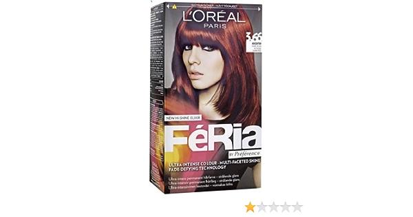 Loreal París Feria – 3.66 Pure Color Morado – Tinte para cabello colorante)