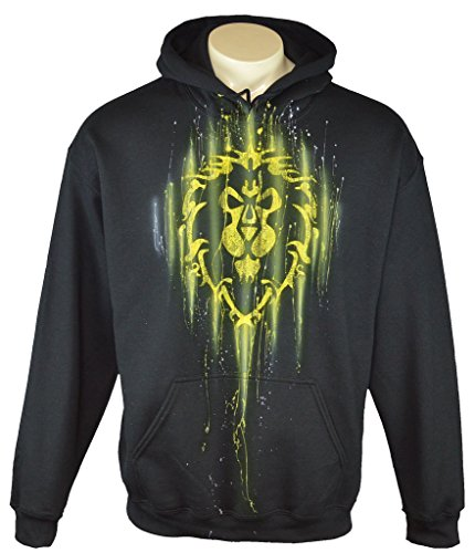 Exotic Gamer Gear Themed WOW Alliance Hoodie Airbrushed Gamer Hoodie, Adult