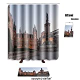 vanfan bath sets Polyester rugs shower curtain imperial college in london 391268230 shower curtains sets bathroom 72 x 88 inches&31.5 x 19.7 inches(Free 1 towel 12 hooks)
