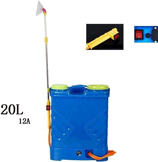 JTYDFG Pulverizador a presión para Plantas 18/20L, Fumigador de Jardín Pesticidas Eléctricos Mochila Pulverizador Multiusos para Jardinería Jardín de césped Granja (Azul): Amazon.es: Jardín