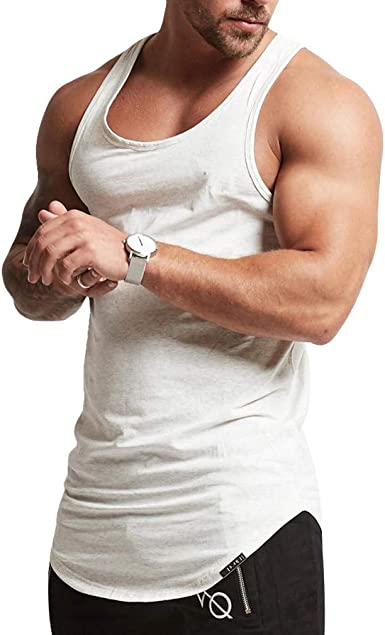 JiXuan Hombres Chaleco Sin Mangas Hombres Camisetas Sin ...