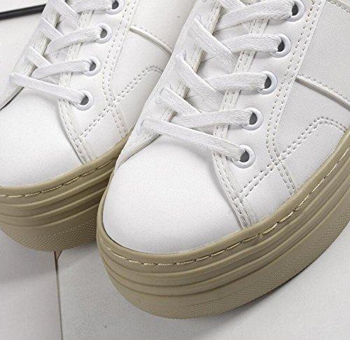Zapatos Tamaño Deportivos Pequeños Underwater Zapatos Calzado De Impermeable Gran Blancos Aire Libre Zapatos Al blanco Gimnasia GLTER 40 Mujeres Casual Plataforma Grueso ZASqPP
