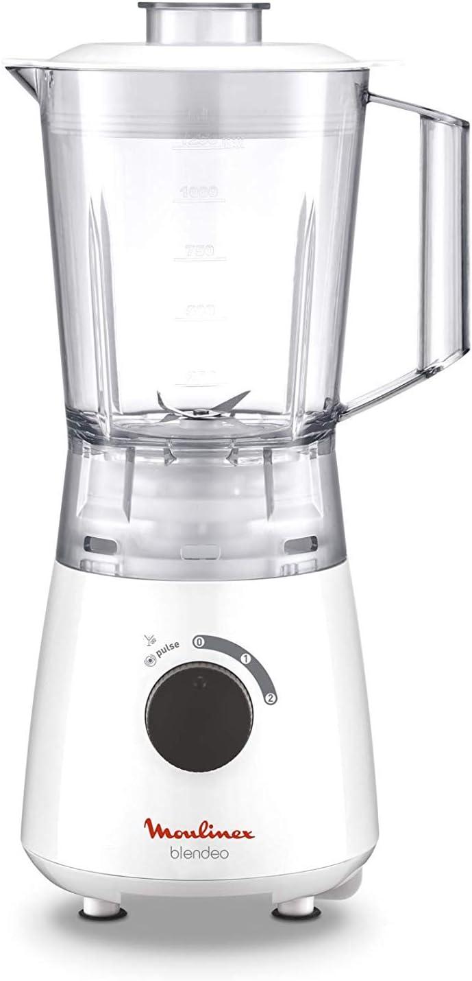 Moulinex Blendeo LM2A0110 Batidora de vaso de 400 W, cuchillas de precisión, vaso de plástico muy ligero, libre de BPA, 3 modos de batido: Amazon.es: Hogar