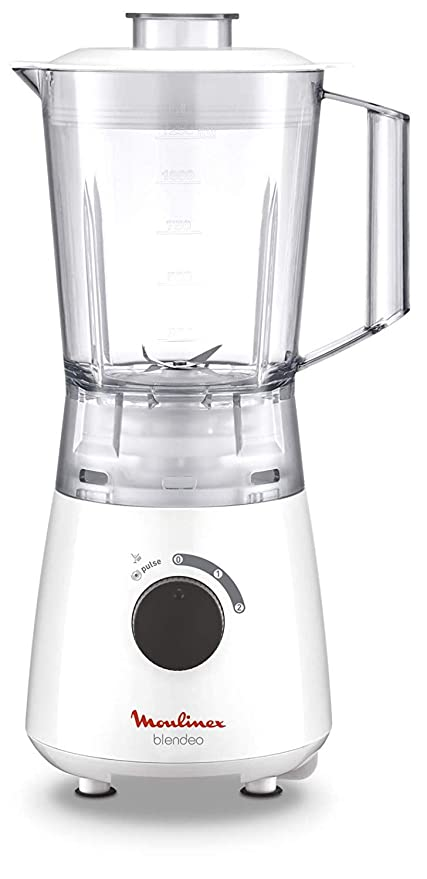 Moulinex Blendeo LM2A0110 Batidora de vaso de 400 W, cuchillas de precisión, vaso de plástico muy ligero, libre de BPA, 3 modos de batido