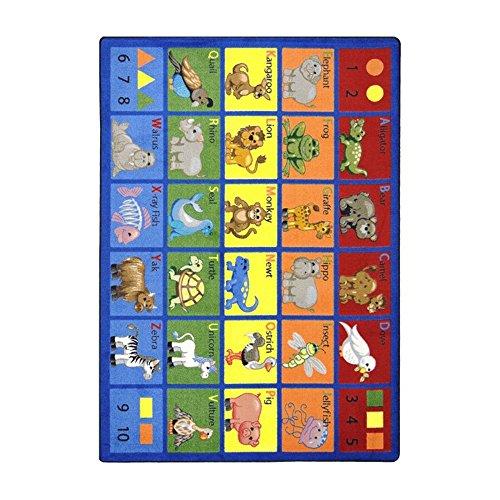 ANIMAL PHONICS RUG 7.8 X 10.9 -