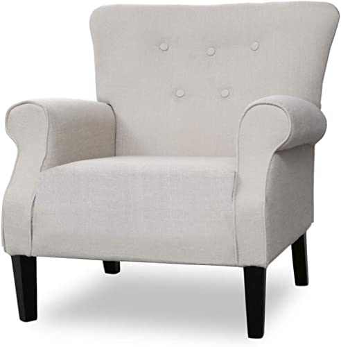 Top Space Accent Chair Sofa Mid Century Upholstered Roy Arm Single Sofa Modern Comfy Furniture