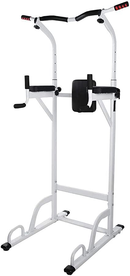 Estink Multi-Function Strength Training Pull Up Bar Workout Station Stand with Foam Handle for Home Gym Fitness Power Tower