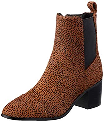 Nude Women's Arden Ankle Boot, Chocolate Spot, 37 EU