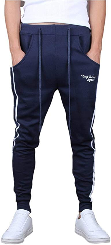Minetom Hombres Moda Pantalones Hippie Harén Pantalones De ...