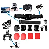 OLSUS Sports Action Professional Video Camera Accessory Kit 20 In 1 Black ABS