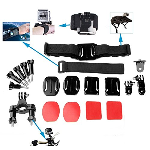 OLSUS Sports Action Professional Video Camera Accessory Kit 20 In 1 Black ABS by OLSUS