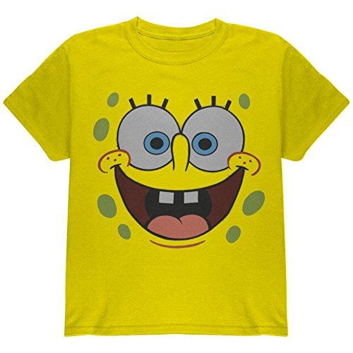 [Spongebob - unisex-child I'm Ready Costume T-Shirt Medium Yellow] (Spongebob Dress)