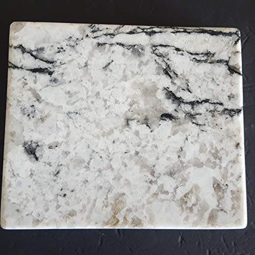 Granite Stone Cutting Cheese Board Polished Serving Tray Trivet Hot Plate 10 x 8.5 (Stone Serving Trivet)