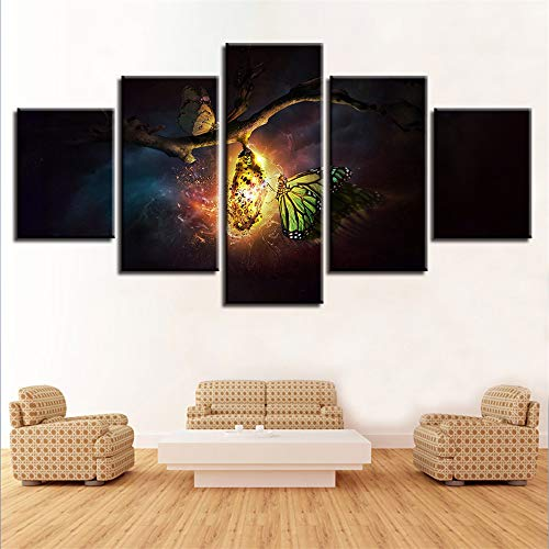 Pupa Silk - Loiazh - Canvas Wall Art Print Picture - Decorative Painting - 5 Pcs-Home and Office Wall Decoration Silkworm pupa 100/80/60x40cm Frame
