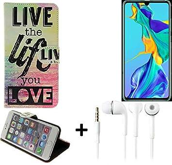 K-S-Trade® 360° Funda Smartphone para Huawei P30, Live The Life ...