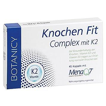 KNOCHEN FIT Complex mit MenaQ7-hochdosiertes MK7 Vitamin K2 Kombination mit  Vitamin D3-für efda06a0ee449