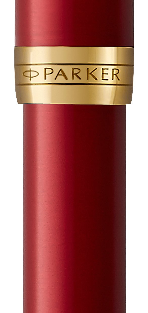 PARKER Sonnet Fountain Pen, Red Lacquer with Gold Trim, Medium Nib (1931474) by Parker (Image #2)