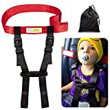 : Child Airplane Travel Safety Harness Approved by FAA, Airplane Travel Safety Clip Strap Baby, Kids & Toddlers Restraint System with Free Carry Pouch Bag- Strictly for Aviation Travel Only