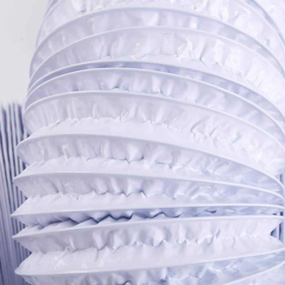 6 metros // 16 pies de largo manguera de aire de ventilaci/ón HVAC de conducto flexible negro para carpas de cultivo cocina appealing cuartos de secado Persiverney Conducto de aire de 3 pulgadas