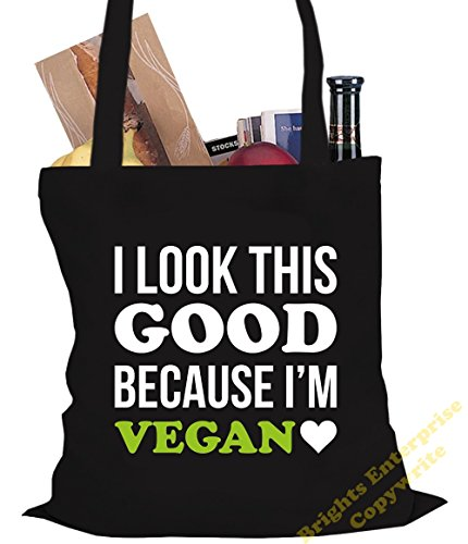 unique I'm x with this wording look 38 reuseable original Size Shopping our bag Tote the Bag 57 cm 10 I An because tote from Beach Black Gym Vegan or stocking Christmas 42 good litres range Birthday TvnqOS