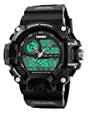 Gosasa Multi Function Military S-shock Sports Watch LED Digital & Analog 5ATM Waterproof Alarm(Silver)
