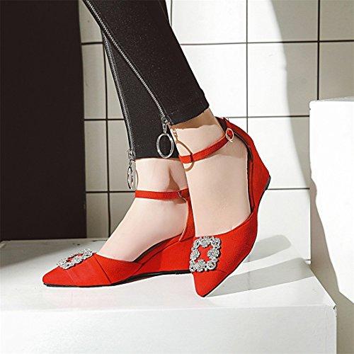 tacchi gules suo sandali sandali sandali ha 33 i i signore i agio a sandali i wedge diamante sandali aXw8xvq8p