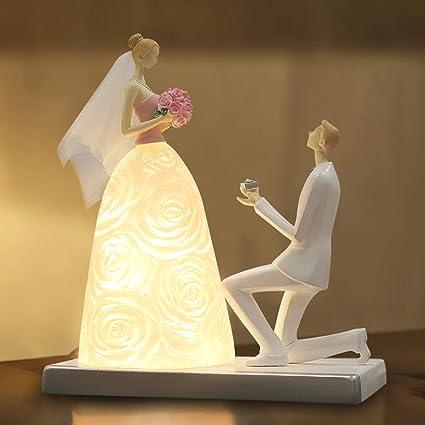 Amazon Com Hetao Marriage Couple Table Lamp Creative Resin